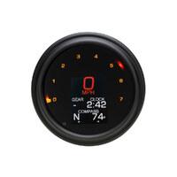 """Dakota Digital DAK-MLX-2004-K 2000 Series 45"""" Speedometer/Tachometer Black w/Tank Mount for Softail'04-10 & FXDWG'04-08"""