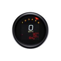 "Dakota Digital DAK-MLX-3004-K 3-3/8"" Round KPH Speedometer w/Tachometer Black for Dyna 04-11/Sportster 04-13"