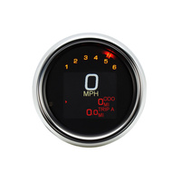 Dakota Digital DAK-MLX-3012 Speedo/Tacho; Plug-In FXD'12-17, XL'14up&FXS/B11-17 3-3/8″ Chr