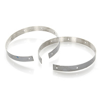 D&D Exhaust DD100-SSB-4 Replacement Stainless Steel Bands for Bobcat Systems