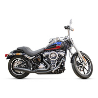 D&D Exhaust DD635Z-31F Low Cat 2-1 Exhaust Black for Softail 18-Up