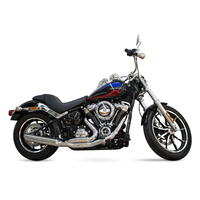 D&D Exhaust DD635Z-32F Low Cat 2-1 Exhaust Chrome for Softail 18-Up
