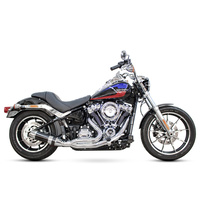 D&D Exhaust DD636Z-32CB Bob Cat 2-1 Exhaust Chrome w/Carbon Fibre Sleeve Muffler for Softail 18-Up