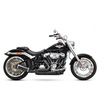 D&D Exhaust DD640Z-31BB Bob Cat 2-1 Exhaust Black w/Black Satin Sleeve Muffler for Breakout/Fat Boy 18-Up/FXDR 19-Up