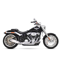 D&D Exhaust DD640Z-32AB Bobcat 2:1 Exhaust Softail'18up M8