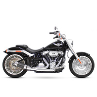 D&D Exhaust DD640Z-32CB Bob Cat 2-1 Exhaust Chrome w/Carbon Fibre Sleeve Muffler for Breakout/Fat Boy 18-Up/FXDR 19-Up