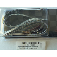 """Design Engineering Inc DEI-010208 Stainless Low Profile Ladder Tie 1/4"""" Wide x 9"""" Long"""