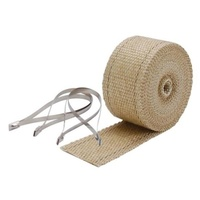 "DEI 901122 Exhaust Wrap Tan 2"" x 25Ft Roll w/Locking Ties"