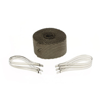 "DEI 901123 Exhaust Wrap Titanium 2"" x 25Ft Roll w/Locking Ties"