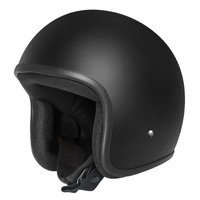 DriRider Base Open Face Helmet w/No Peak Matte Black