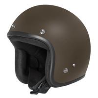 DriRider Base Open Face Helmet Matte Brown