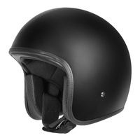 DriRider Base Open Face Helmet w/No Studs Bones Matte Black