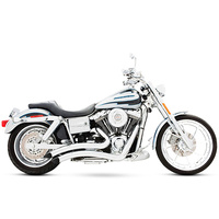 Freedom Performance Exhaust FPE-HD00258 Sharp Curve Radius Exhaust System Chrome for Dyna 91-05