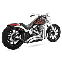 Freedom Performance FPE-HD00425 Sharp Curve Radius Exhaust Chrome w/Black Tips Softail'86-17