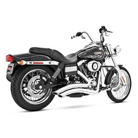 Freedom Performance FPE-HD00427 Sharp Curve Radius Exhaust Chrome w/Chrome End Caps for Dyna 06-17