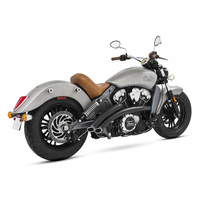 Freedom Performance Exhaust FPE-IN00076 Radical Radius Exhaust System Black w/Black End Caps for Indian Scout 15-Up