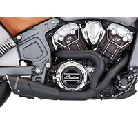 Freedom Performance Exhaust FPE-IN00082 Combat 2-1 Exhaust System Black w/Black End Cap for Indian Scout 15-Up
