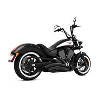 Freedom Performance Exhaust FPE-MV00012 Sharp Curve Radius Exhaust System Black for Victory Vegas/King Pin/Boardwalk/Highball Judge