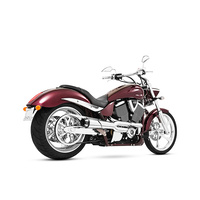 Freedom Performance FPE-MV00040 American Outlaw Exhaust Chrome w/Black End Caps Victory Hammer & Jackpot