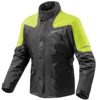 REV'IT! Nitric 2 H20 Rain Jacket Black/Neon Yellow