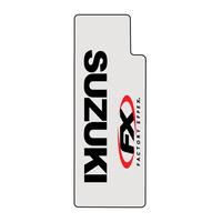 Factory Effex Clear Upper Fork Decals w/Black Suzuki Logo
