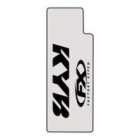 Factory Effex Clear Upper Fork Decals w/Black KYB Logo