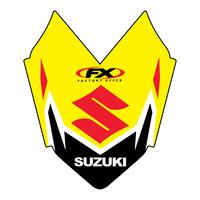 Factory Effex Front Fender Tip Decal for Suzuki RM-Z250/450 08-10