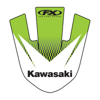 Factory Effex 14-30120 Front Fender Tip Decal for Kawasaki KX125/250 03-08/KX250F/450F 06-08