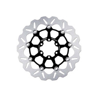 """Galfer USA GAL-DF472FLW 11.8"""" Front or Rear Wave Floating Disc Rotor Black for Victory & Indian exc Scout"""