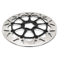"Galfer USA GAL-DF680CVSS-C 13"" Front Round Floating Disc Rotor w/Black Carrier for most Big Twin 00-Up (when upgrading to 13"" x 6 Piston Caliper)"
