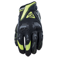 Five Airflow Evo Gloves Black/Fluro Yellow