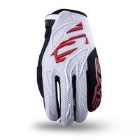 Five MXF 3 Gloves White/Red