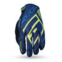 Five MXF Prorider S Gloves Green Water/Fluro Yellow