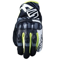 Five RS-C Gloves White/Fluro Yellow