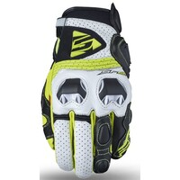 Five SF2 Gloves White/Fluro Yellow