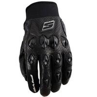 Five Stunt Air Leather Gloves Black
