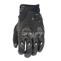 Five Stunt Evo Leather Vented Gloves Black