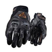 Five Stunt Evo Leather Gloves Brown