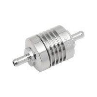 "Golan Products GP-60-375C Mini Inline 3/8"" Fuel Filter Chrome (1.5"" long x 1.375"" dia)"