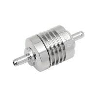 "Golan Products GP-60-375C Mini Inline Fuel Filter 3/8"" x 1 1/2"" Long x 1.375"" Diameter Chrome"