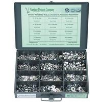 Gardner-Westcott GW23W Tray Assortment Flat Hex Nuts & Lockwashers Chrome 7/16 & 1/2 - CC1I