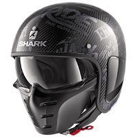 Shark S-Drak Carbon Helmet Freestyle Cup Carbon/Anthracite/Anthracite