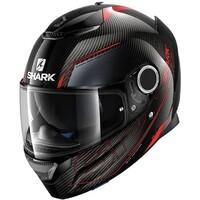 Shark Spartan Carbon Silicium Helmet Carbon/Red/Anthracite