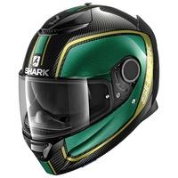 Shark Spartan Carbon Helmet Priona Carbon/Green/Gold