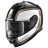 Shark Spartan Carbon Helmet Priona Carbon/White/Gold