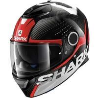 Shark Spartan Carbon Helmet Cliff Carbon/Red/White