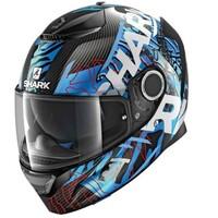 Shark Spartan Carbon Helmet Daksha Carbon/Blue/White