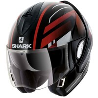 Shark Evoline Series 3 Helmet Corvus Black/White/Red