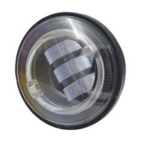 "Hoglights HOG-4045AUX-B 4-1/2"" LED Passing Lamp Inserts w/Halo Black (Pair)"
