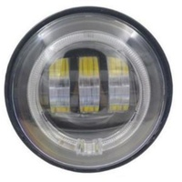 "Hoglights HOG-4045AUX-BC 4-1/2"" LED Passing Lamp Inserts w/Halo Chrome (Pair)"